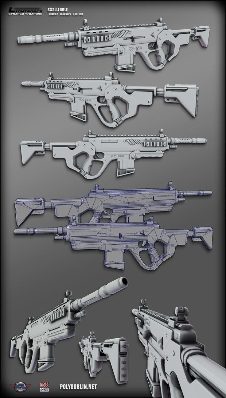 Near-Future Guns - Polycount Forum