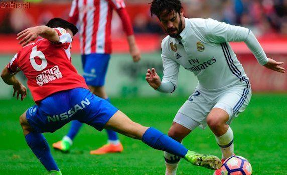 Futebol europeu: Real desempata no final e garante vitória sobre o Gijón no Espanhol