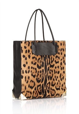 Natural Prisma In Leopard Print Haircalf With Pale Gold - Alexander Wang