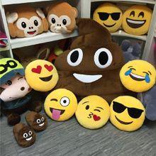 Factory wholesale octopus emoji pillow/ yellow emoji pillow/soft plush emoji pillow