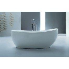 Nearia Freestanding bath. This freestanding bath with a contemporary minimalistic design is ideal for a medium sized bathroom.  Description:  Dimension (MM): Bathtub1800 x 850 x 680