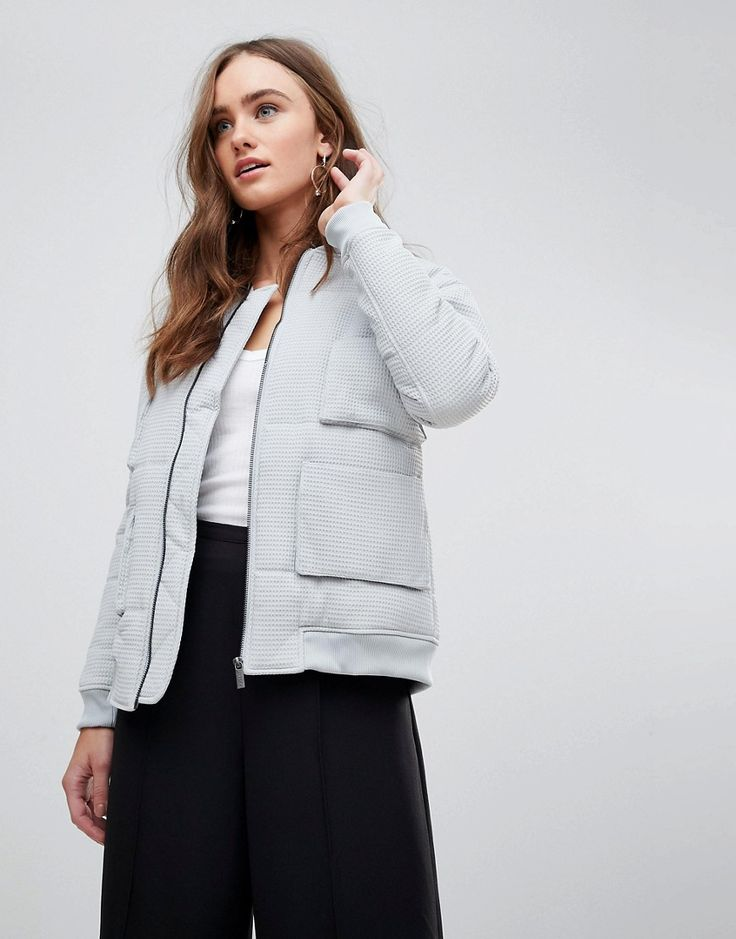 FINDERS KEEPERS CECIL MINIMAL BOMBER JACKET - GRAY. #finderskeepers #cloth #
