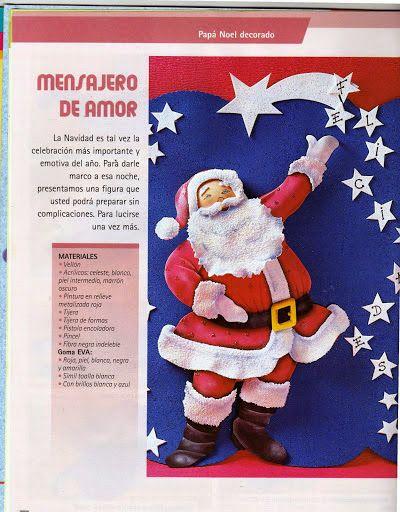 Blog de Santa clauss: como hacer figuras de navidad goma eva