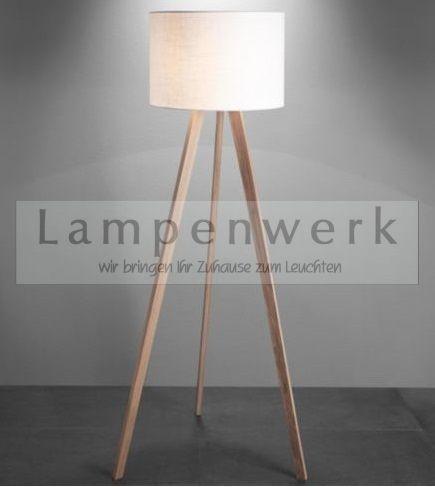 Lampenwerk+Stehlampe+Tripod+WOOD+von+Lampenwerk+auf+DaWanda.com