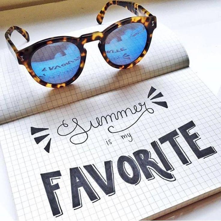 Summer is my favorite ☀ #Illesteva #summer #OticasWanny #sunglasses #oculos…