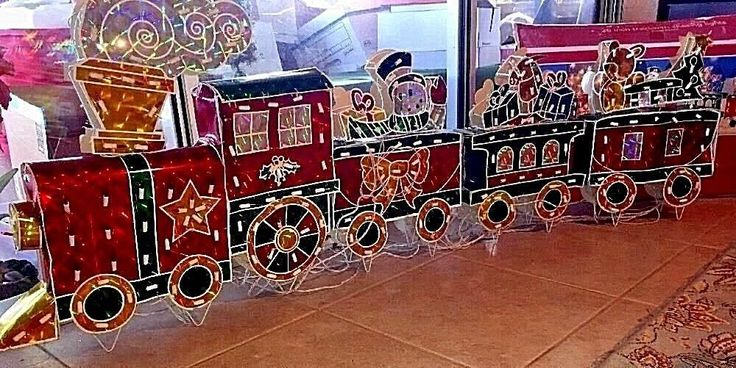 6' Long Christmas Holographic Animated Lighted Large Train w Chasing Lights 6 Ft | Collectibles, Holiday & Seasonal, Christmas: Current (1991-Now) | eBay!