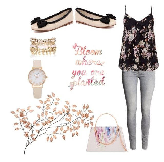 """Fabulously Floral"" by simone-kelly-coad-lutwyche ❤ liked on Polyvore featuring Miss Selfridge, Human Premium, Ted Baker and River Island"