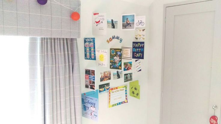 Magnetic Wall - strong enough to attach reasonably heavy birthday cards, photos and multiple sheets of paper