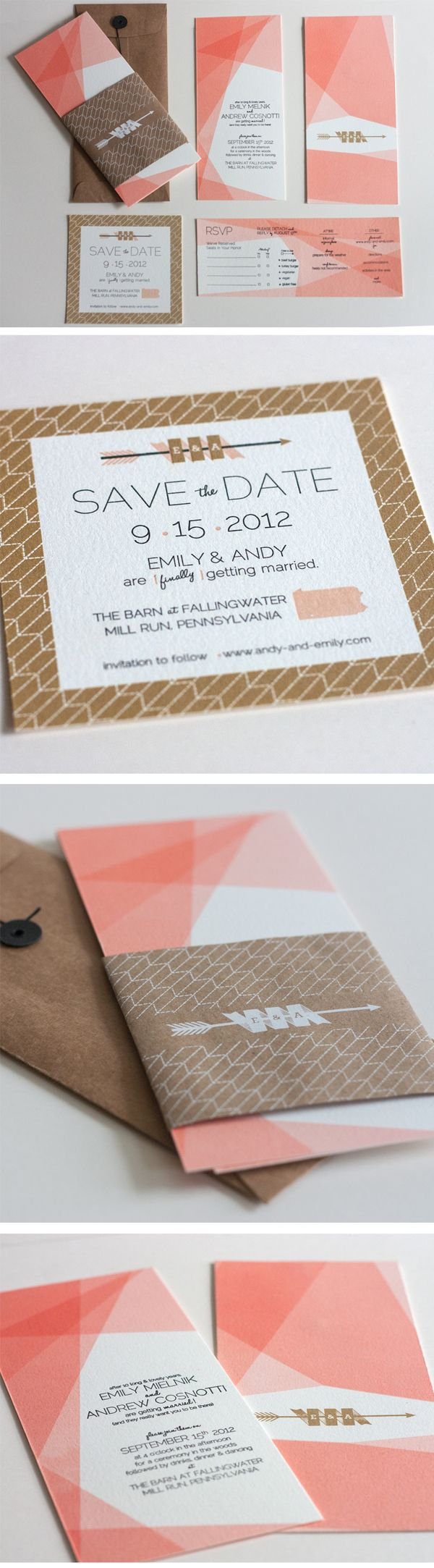 Wedding Invitations - Emily  Andy by Joseph DeFerrari, via Behance