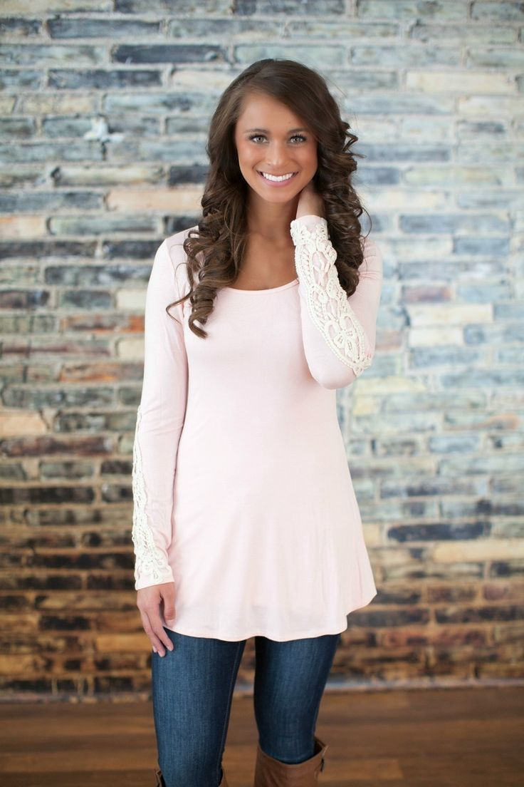 The Pink Lily Boutique - Lace Me Up Blouse Light Pink XL, $36.00 (http://thepinklilyboutique.com/lace-me-up-blouse-light-pink-xl/)
