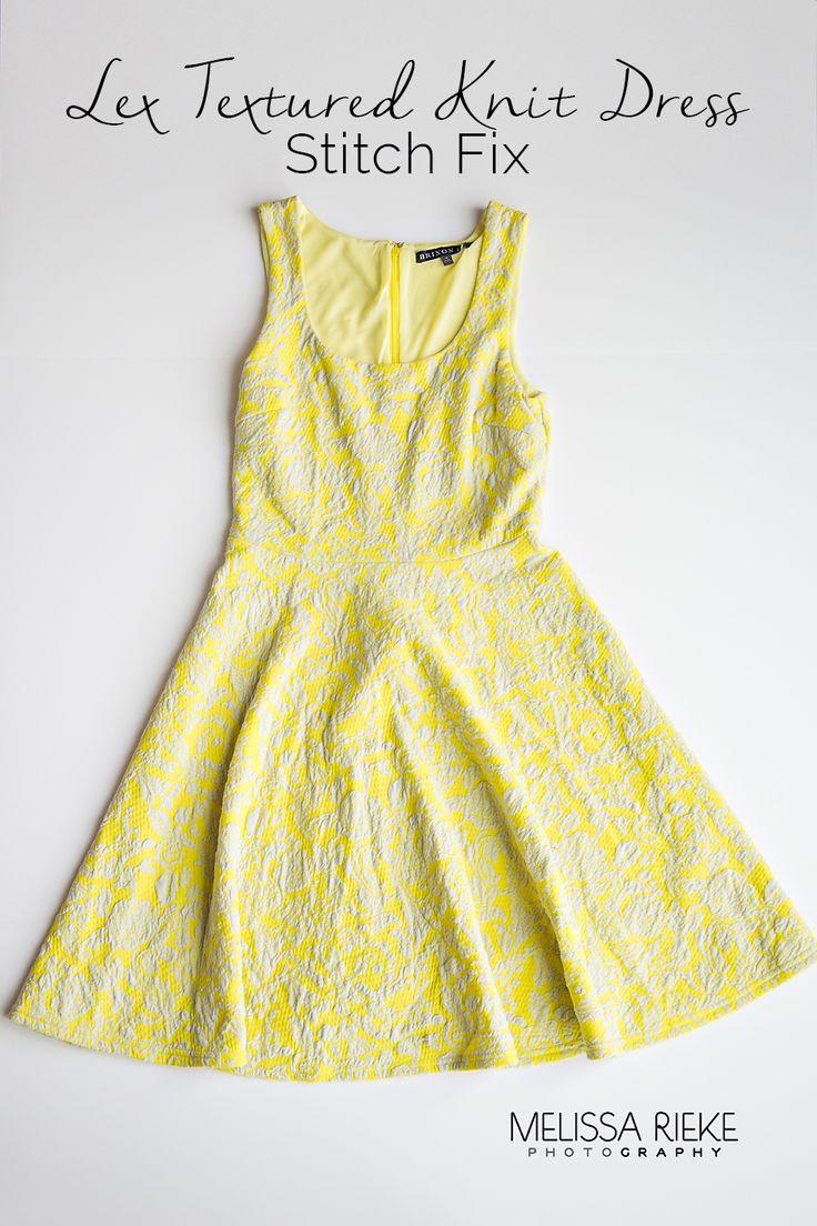 The Perfect Yellow Spring Dress Stitch Fix Review   Lex Textrued Knit Dress   Photographer Style   Mom Fashion   Kansas City Blogger   Melissa Rieke Photography
