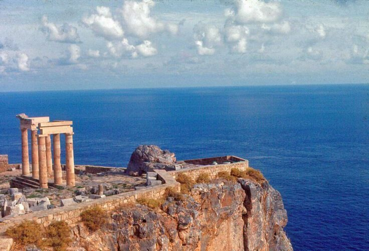 Acropolis of Lindos - Rhodes island , Greece
