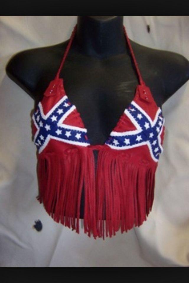Confederate Flag Push Up Bikini August 2017