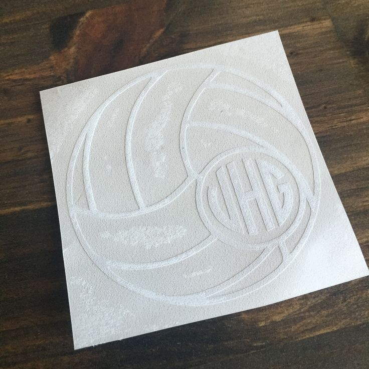 Custom Volleyball Decal with Monogram