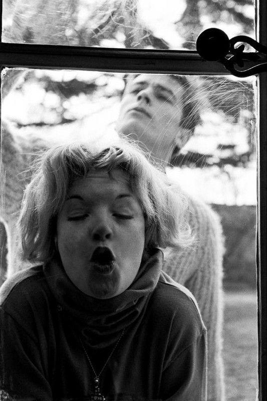 Alain Delon and Romy Schneider *
