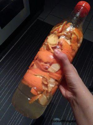 Cocina100%Vegetal: Receta de vinagre de naranja para uso doméstico