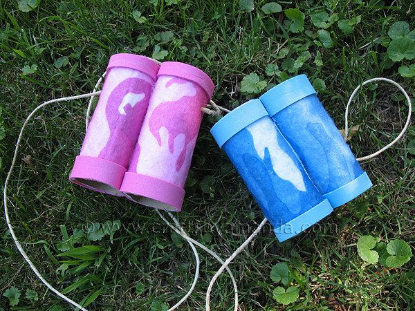 Tube Binoculars | Community Post: 22 Cool Kids Crafts You Can Make From Toilet Paper Tubes