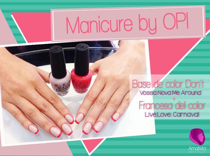 Qué te parece esta manicure? simple y súper fácil  Visítanos en Amatista Salon & Day Sp