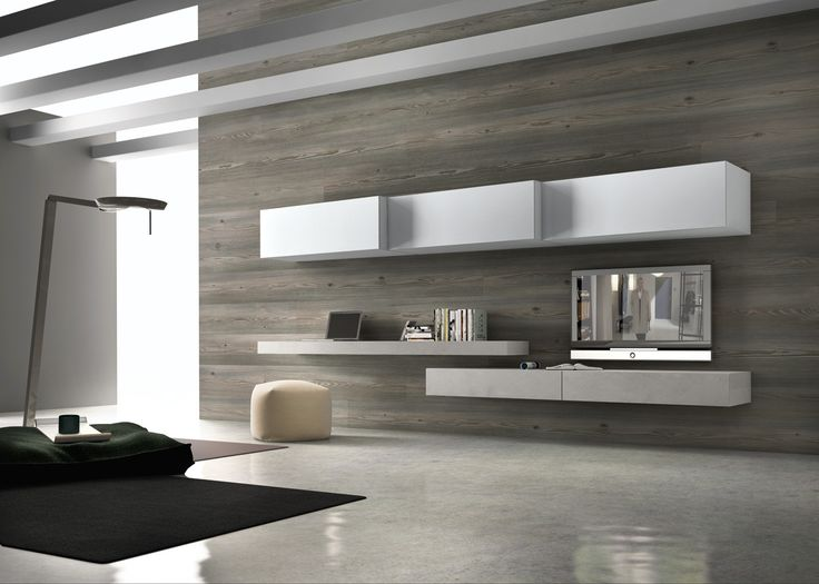 Presotto base unit and wall hung bench in grigio polvere coloured ecomalta