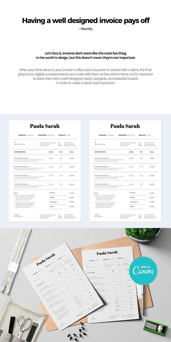 Canva Clean Invoice Invoice Template Stationery Templates Stationery Design