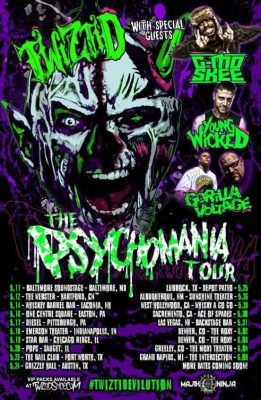 Twiztid announces The PsychoMania Tour featuring G-Mo Skee Young Wicked Gorilla Voltage