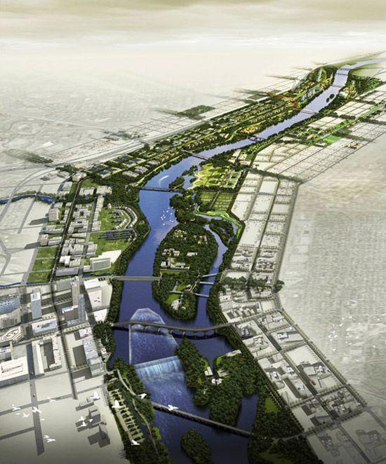 Minneapolis Riverfront Design Competition Finalist - Turenscape: The Resilient…