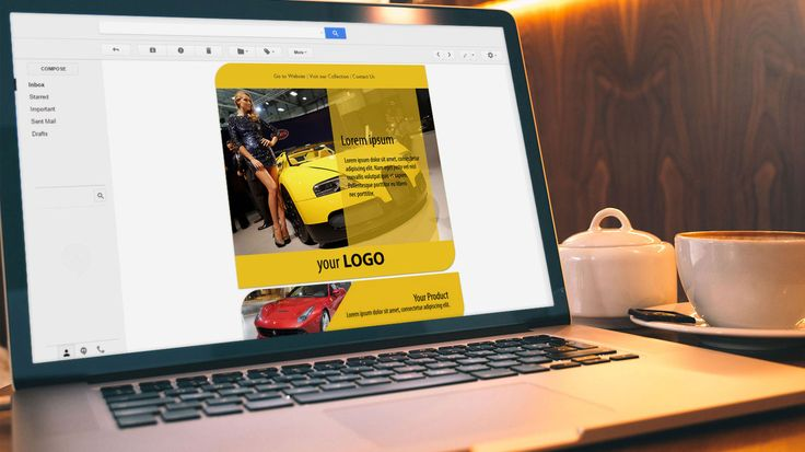 Newsletter Design for Otomotif Show