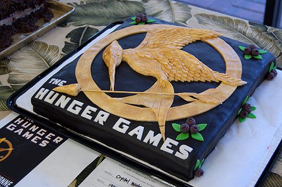 Hunger Games cake idea.  I know a little girl who would love to have this cake at her birthday party!