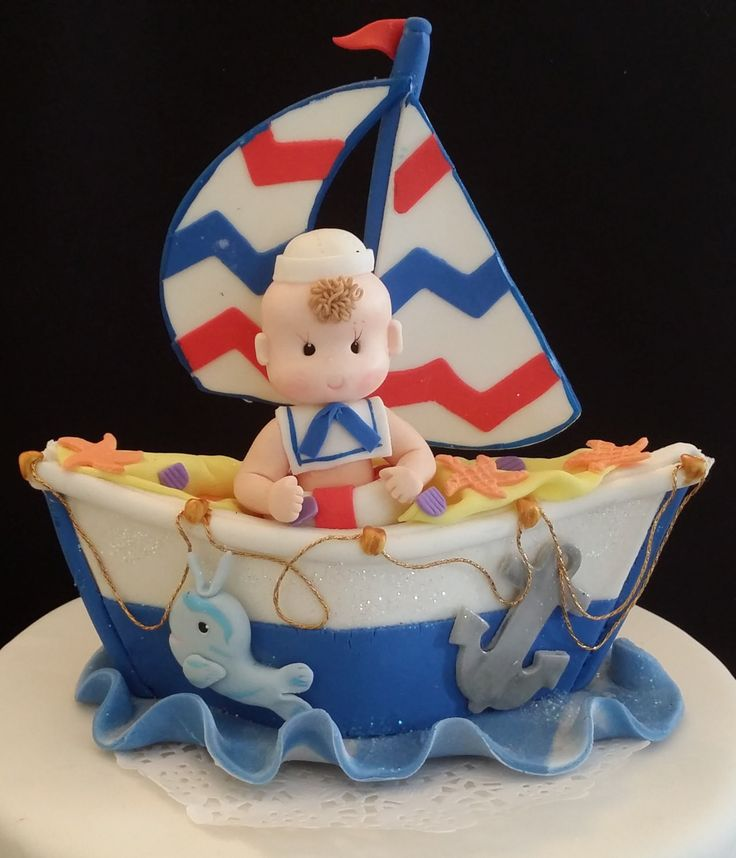 Nautical Party Decoration, Nautical Baby Shower Cake , Nautical Party Favors, Nautical Birthday Decoration, Birthday Party, Nautical Red Blue White Decor