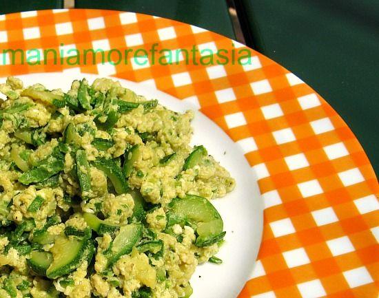 uova strapazzate e zucchine