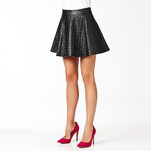 Hot Options Embroidered Skater Skirt - Black