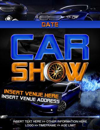 Car Show Psd