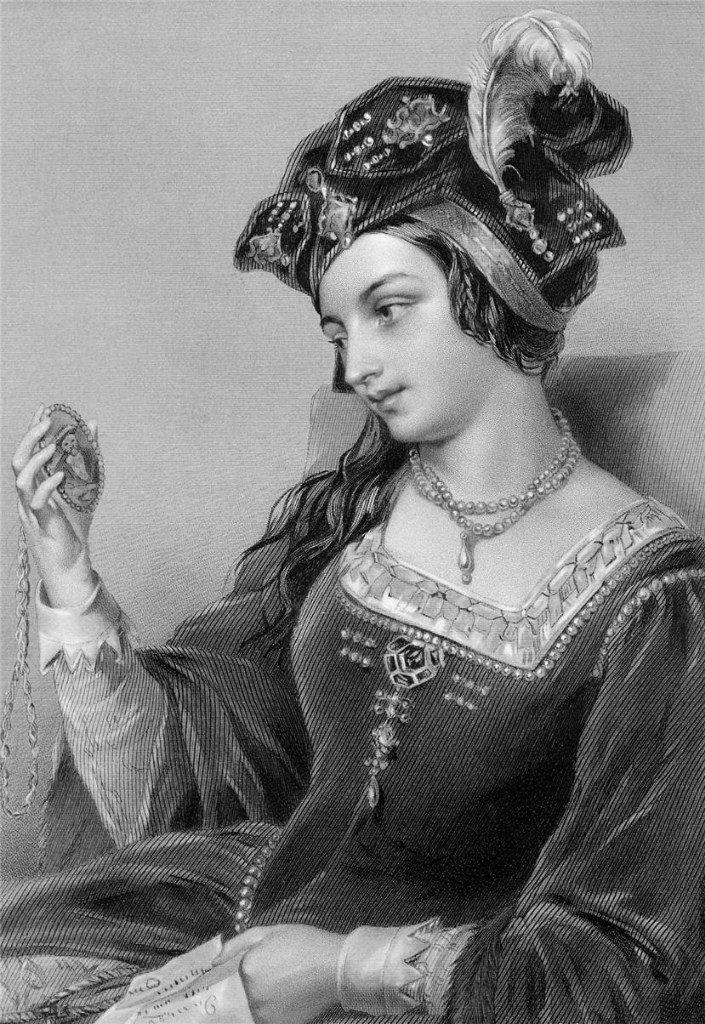 Анна Болейн (1507-1536), вторая жена Генриха VIII, рис. О'Нейла