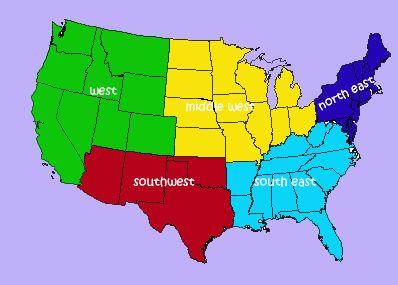 Best Teaching US Regions Images On Pinterest Teaching - Map us regions