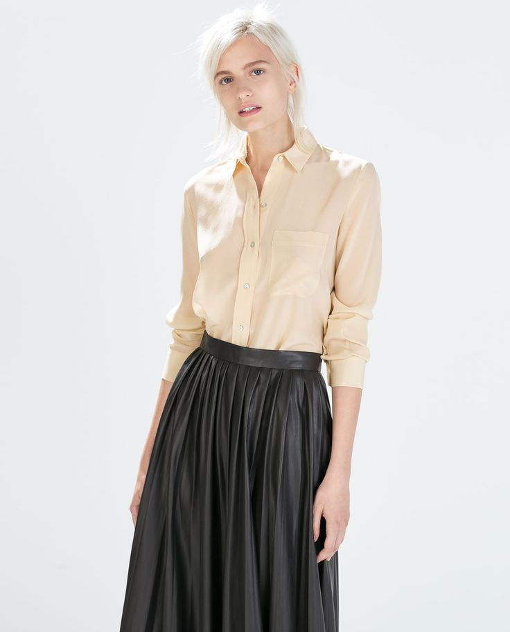Image 1 of SILK SHIRT from Zara