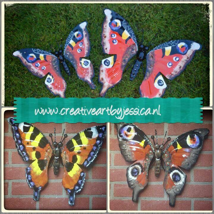 Tuindecoratie vlinders voor aan de muur outside art vlinders - Tuindecoratie buiten ...