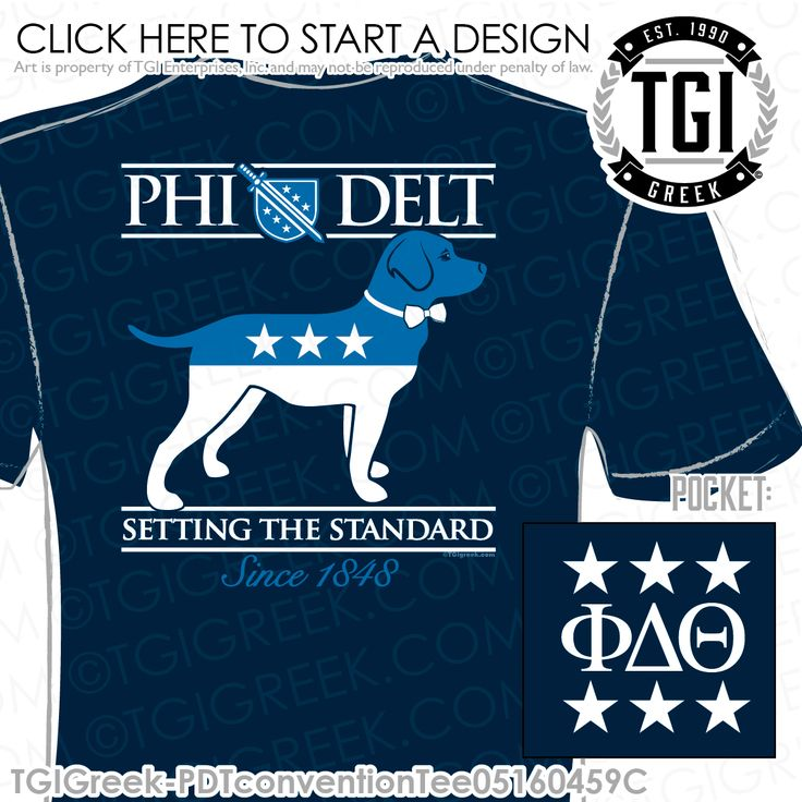 TGI Greek - Phi Delta Theta - PR - Greek Apparel #tgigreek #phideltatheta