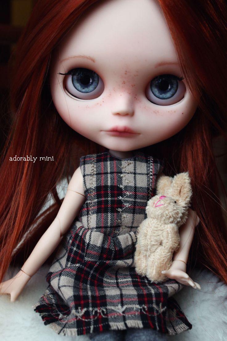 OOAK Custom Blythe Doll. Red Haired Blythe by AdorablyMini - 'Raina' by AdorablyMini on Etsy https://www.etsy.com/listing/500957062/ooak-custom-blythe-doll-red-haired