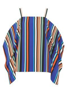 Multi Colour Stripe Batwing Top