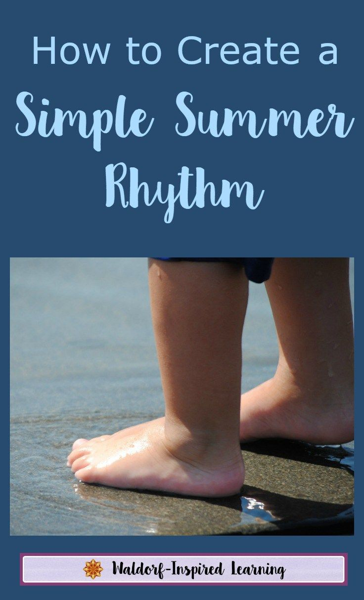 Create a summer rhythm of simple summer meals and activities for kids. With just enough structure but not too much, we can all enjoy a simple and fun summer that's relaxing for both Mom and the children.