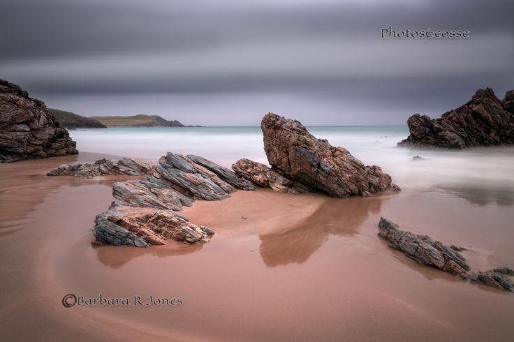 Durness. Sango Sands Pink Rocks. Long exposure. Sutherland. Highland Scotland.