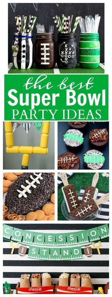 Super Bowl Party Ideas - all the best super bowl party ideas including recipes for dips, pizza's, desserts, and more! Plus find some FREE Super Bowl Printables to add that extra touch to your party!