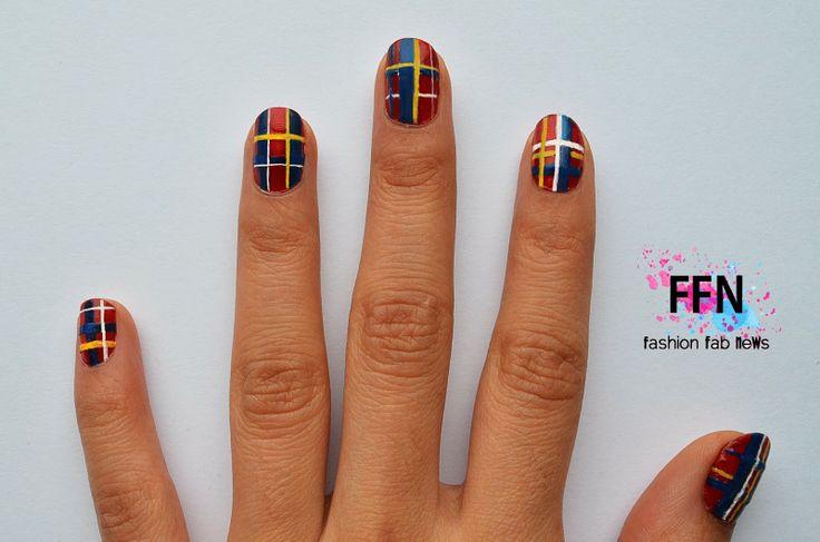Fashion FaB NeWs: Plaid Trend Nails - Uñas Escocesas