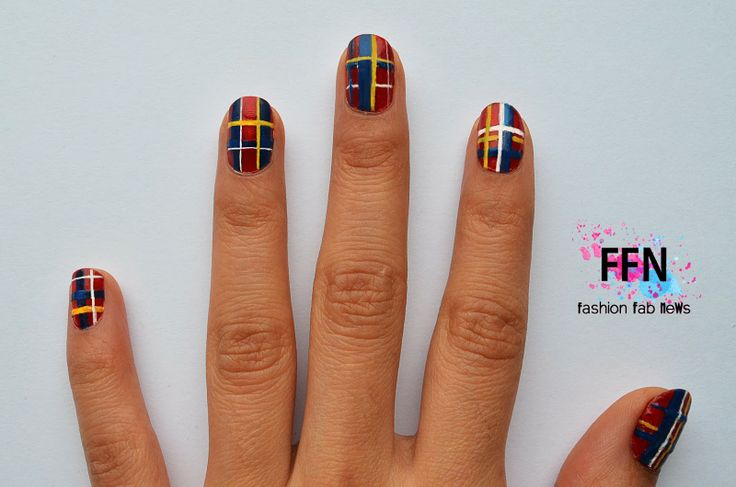Fashion FaB NeWs: Plaid Trend Nails - Uñas Escocesas
