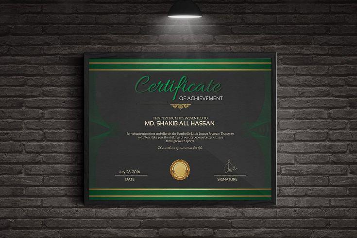 Certificate Templates by MRI STUDIO on @creativemarket