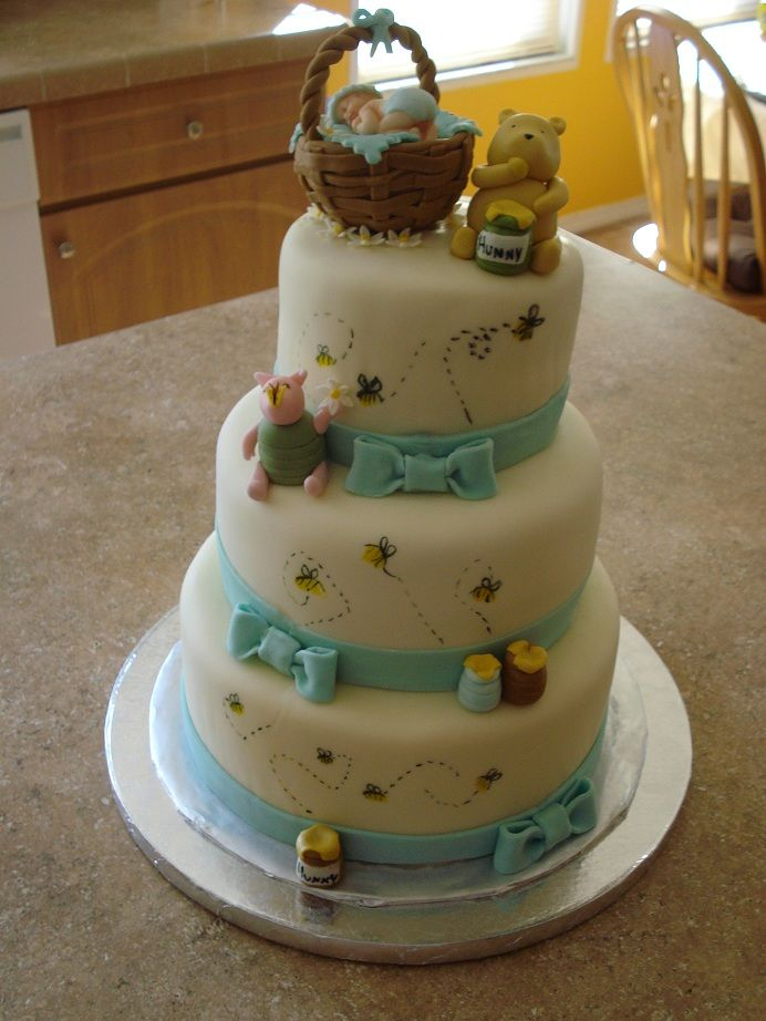 Classic Pooh Baby shower cake - Cake designs and dessert ...