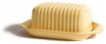 Butter Dish, Butter Cream - contemporary - food containers and storage - Bauer Pottery Company