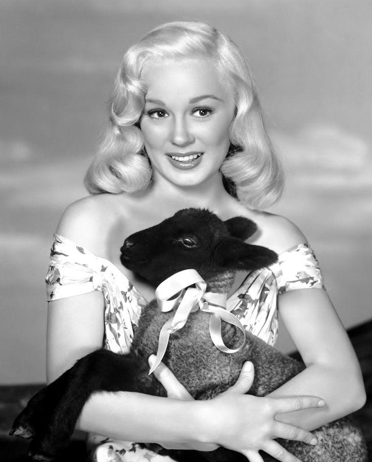 """Mamie had a little lamb…""Mamie Van Doren, 1956."