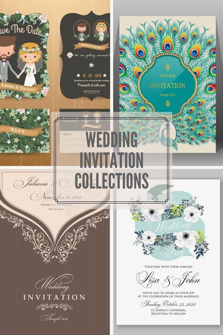 Various Types Of Wedding Invitation Cards Wedding Invitations