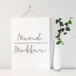 'Mind Over Matter' Wire Wall Plaque - Find inspiration from a motivational print.